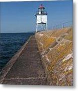 Two Harbors Mn Pier Light 11 Metal Print