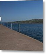 Two Harbors Mn Pier Light 12 Metal Print