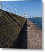 Two Harbors Mn Pier Light 15 Metal Print
