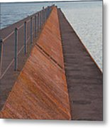 Two Harbors Mn Pier Light 6 Metal Print