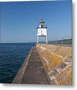 Two Harbors Mn Pier Light 8 Metal Print