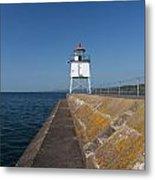 Two Harbors Mn Pier Light 9 Metal Print