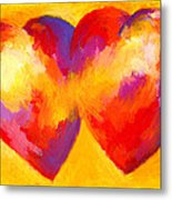 Two Hearts Beat As One Metal Print