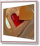 Two Hearts Metal Print