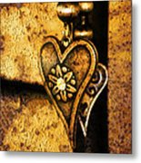 Two Hearts Together Metal Print