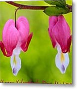 Two Hearts Valentine's Day Metal Print
