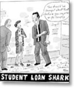 Two Henchman -- Student Loan Sharks -- Approach Metal Print