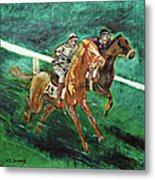Two Horse Race Metal Print