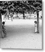 Two Kids In Paris Metal Print