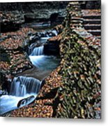 Two Kinds Of Steps Metal Print by Frozen in Time Fine Art Photography