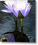 Two Lilies And A Heart Metal Print