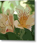Two Lilies Cutout Metal Print