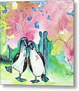 Two Little Boobies Support Breast Cancer Awareness Week Metal Print