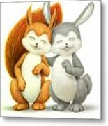Two Lovely Friends Metal Print