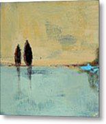 Two Lovers On The Line Metal Print