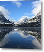 Two Medicine Lake After A Snowstorm Metal Print