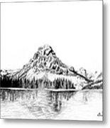 Two Medicine Mountain Metal Print