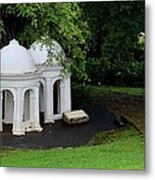 Two Meditating Cupolas In Fort Canning Park Singapore Metal Print