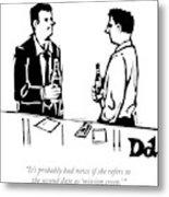 Two Men Talk In A Bar Metal Print