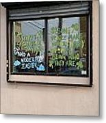 Two Messages Metal Print