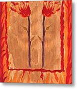 Two Of Wands Metal Print