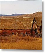 Two Old Barns Near Thorp  Wa Metal Print