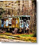 Two Old Cabooses Metal Print