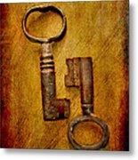Two Old Keys Metal Print