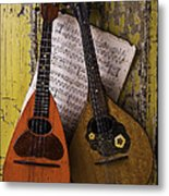 Two Old Mandolins Metal Print