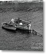 Two Old Rowboats Metal Print