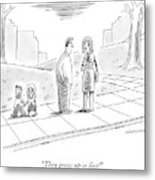 Two Parents Talk About Their Children Metal Print