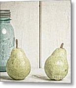 Two Pear Still Life Metal Print