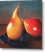Two Pears Metal Print by Anastasiya Malakhova