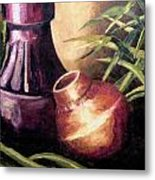 Two Pots Metal Print