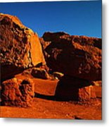 Two Rocks At Cliff Dwellers Metal Print