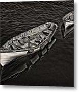Two Row Boats Metal Print