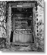 Two-seater Outhouse Metal Print