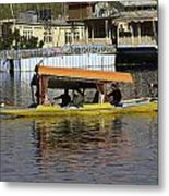 Two Shikaras Next To Each Other In The Dal Lake Metal Print