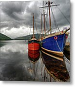 Two Ships At The Cost Of Loch Fyne Metal Print