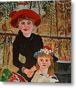 Two Sisters On The Terrace Metal Print