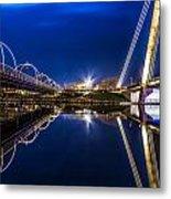 Two Southport Bridges Metal Print