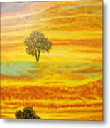 Two Sunsets In Limassol Metal Print