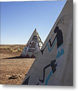 Two Teepees Metal Print