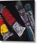 Two Tubes Two Brushes Metal Print
