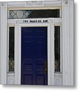 Two Whale Oil Row - Blue Door - New London Metal Print