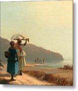 Two Women Chatting By The Sea. St Thomas Metal Print