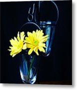 Two Yellow Daisies Metal Print