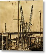 Tybee Island Shrimp Boats Metal Print