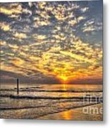Calm Seas And A Tybee Island Sunrise Metal Print