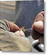 Tying Flies For Snake River Cutthroat Trout Metal Print